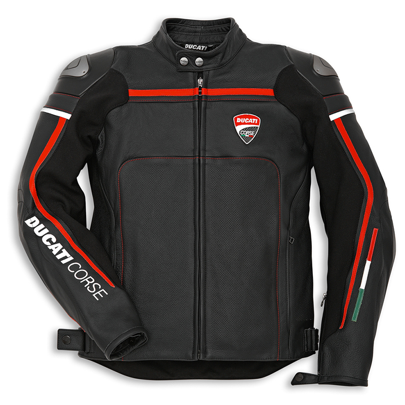 blouson cuir ducati corse 14 noir s team motos. Black Bedroom Furniture Sets. Home Design Ideas