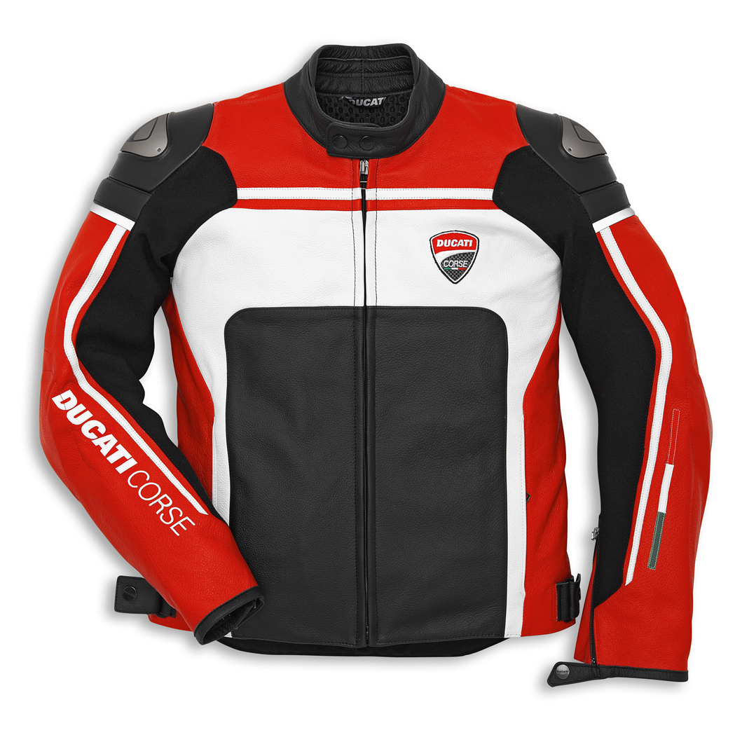 blouson cuir ducati corse 14 rouge s team motos. Black Bedroom Furniture Sets. Home Design Ideas