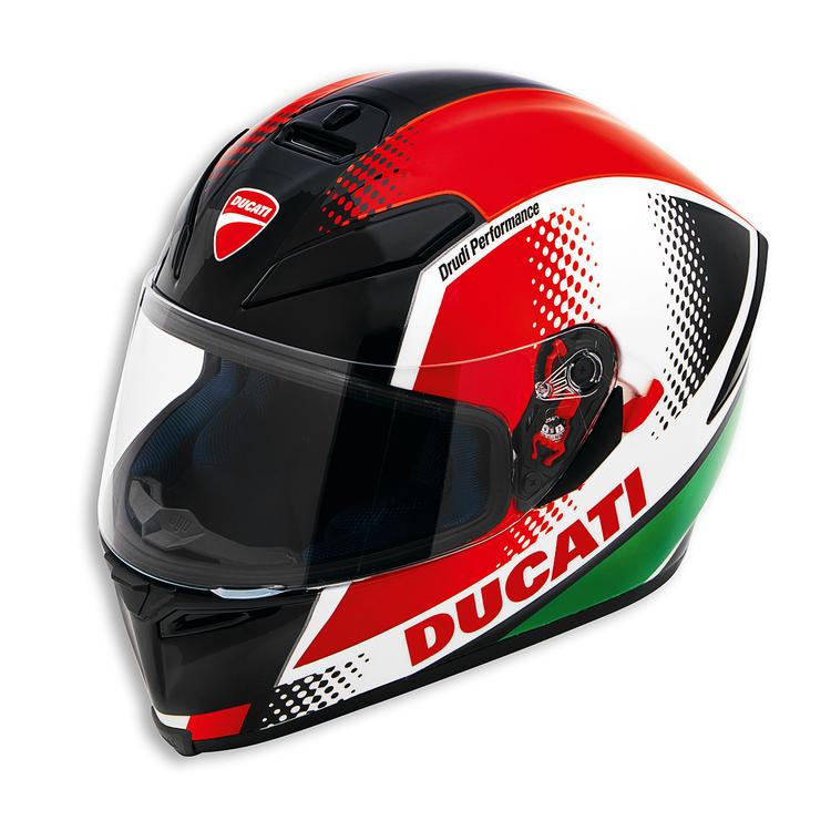casque agv peak v3 au couleur de ducati s team motos. Black Bedroom Furniture Sets. Home Design Ideas