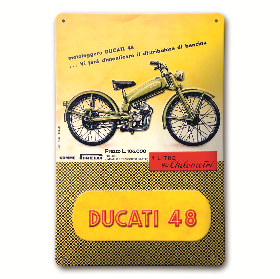 ducati plaque metal moto 48 987694029 s team motos. Black Bedroom Furniture Sets. Home Design Ideas
