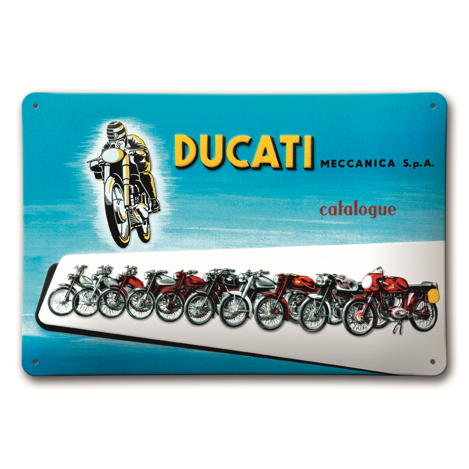 plaque m tal ducati meccanica s team motos. Black Bedroom Furniture Sets. Home Design Ideas