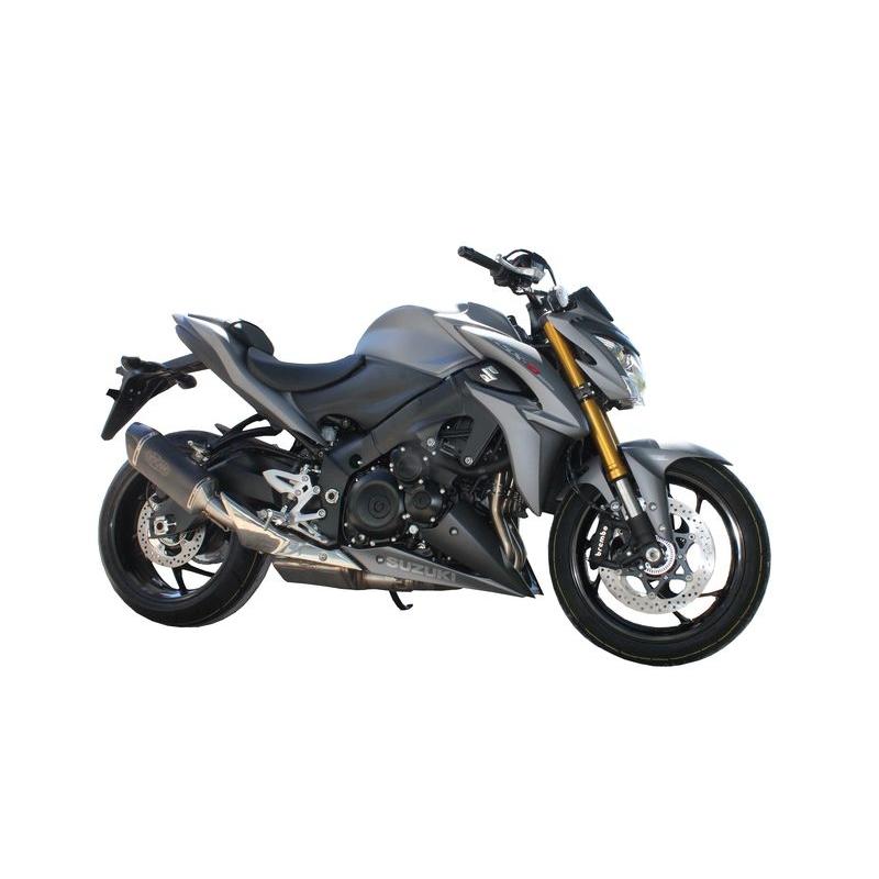 echappement exan oval black titanium gsx s 1000 s team motos. Black Bedroom Furniture Sets. Home Design Ideas