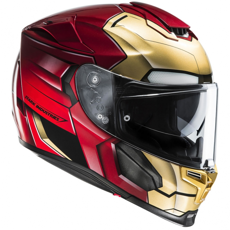 casque hjc r pha 70 ironman homecoming s team motos. Black Bedroom Furniture Sets. Home Design Ideas