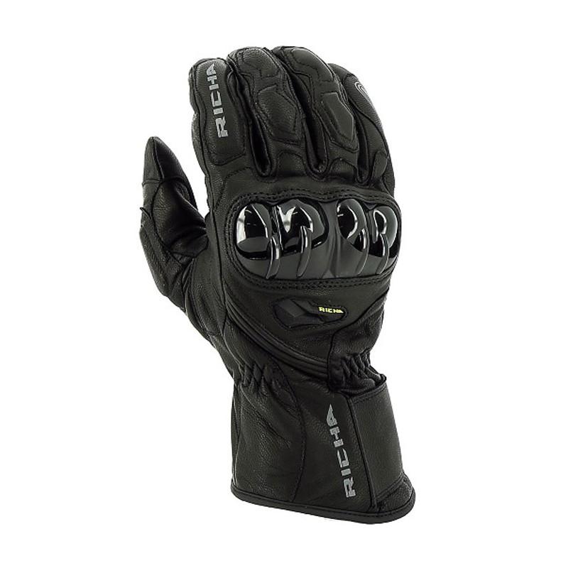 gants cuir imperm ables richa hawk wp noir s team motos. Black Bedroom Furniture Sets. Home Design Ideas