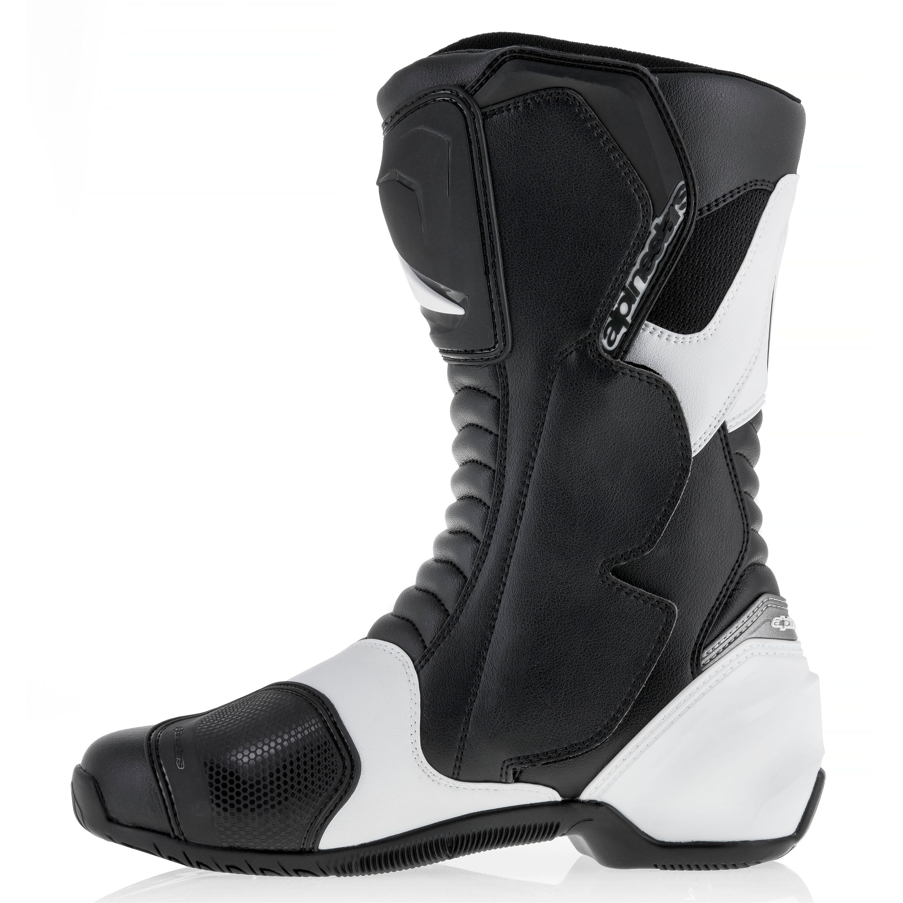 bottes alpinestars smx s femme noir blanc s team motos. Black Bedroom Furniture Sets. Home Design Ideas