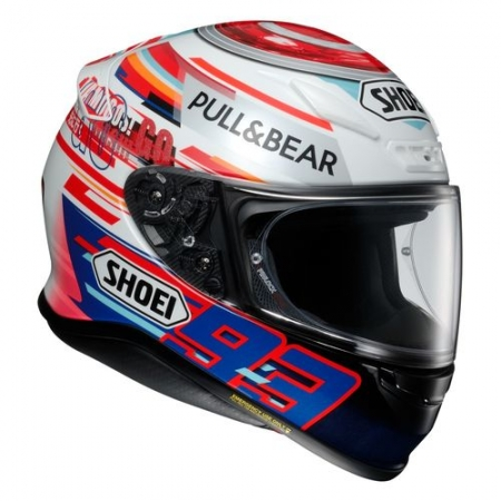 casque fibre shoei nxr marquez power up s team motos. Black Bedroom Furniture Sets. Home Design Ideas
