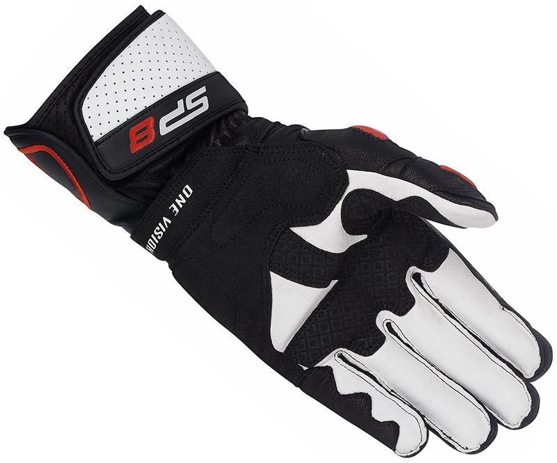 moto axxe gants racing cuir alpinestars sp 8 noir blanc rouge piste paume s team motos. Black Bedroom Furniture Sets. Home Design Ideas