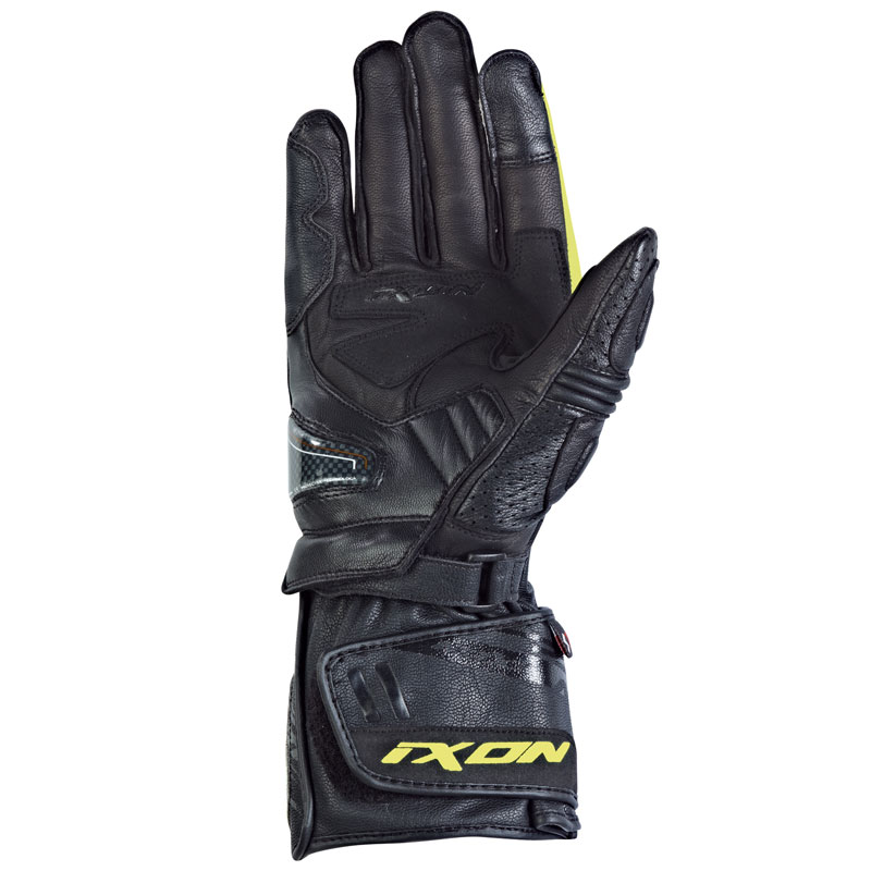 gants racing cuir ixon rs circuit noir jaune s team motos. Black Bedroom Furniture Sets. Home Design Ideas