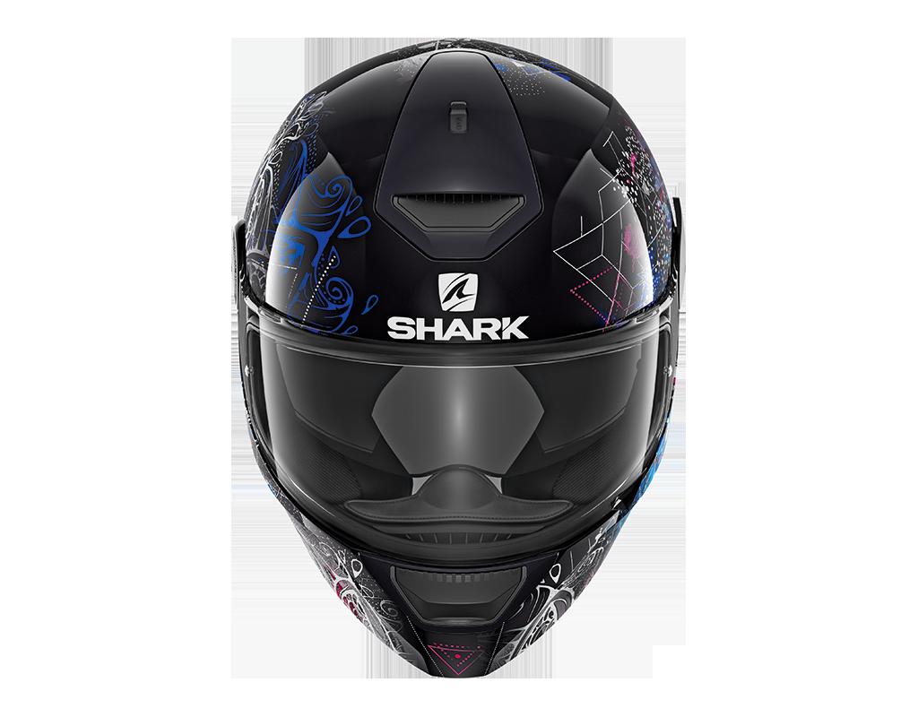 casque shark d skwal anyah en noir s team motos. Black Bedroom Furniture Sets. Home Design Ideas