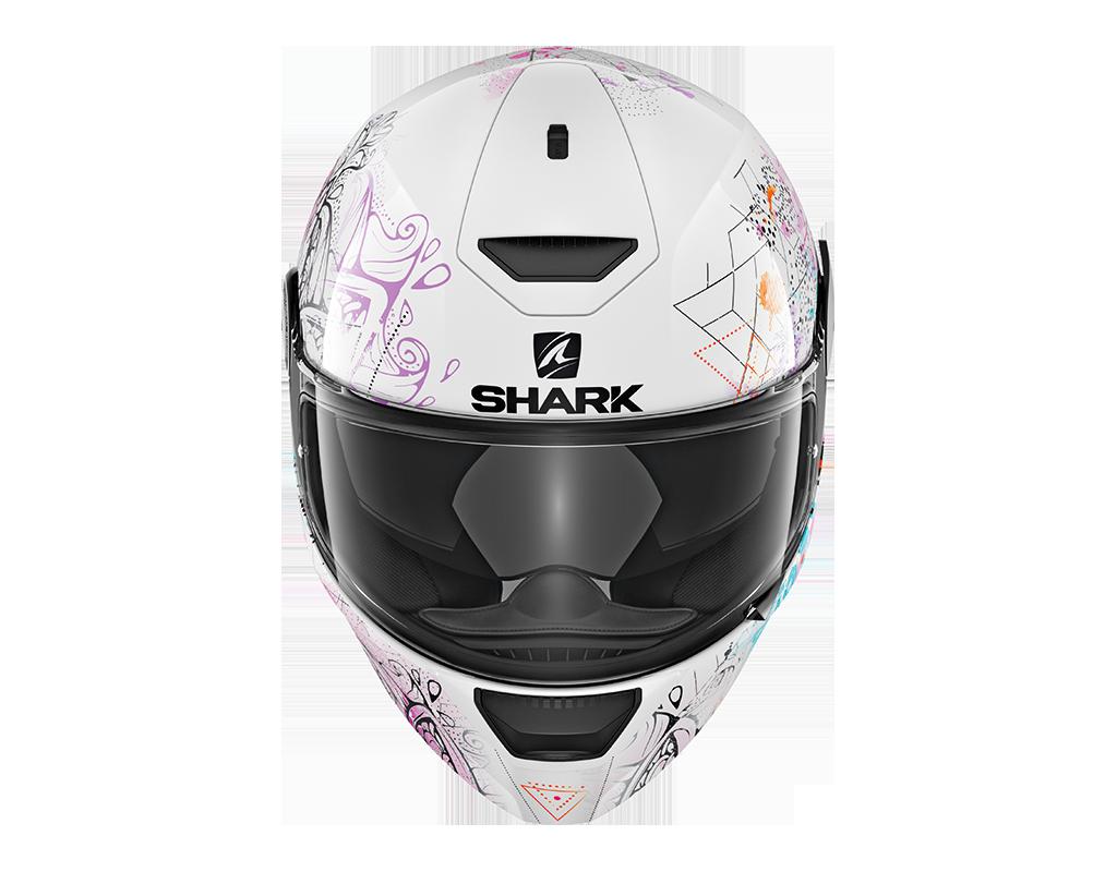 casque shark d skwal anyah blanc s team motos. Black Bedroom Furniture Sets. Home Design Ideas