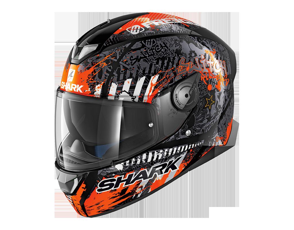 casque shark skwal 2 switch rider 2 orange s team motos. Black Bedroom Furniture Sets. Home Design Ideas