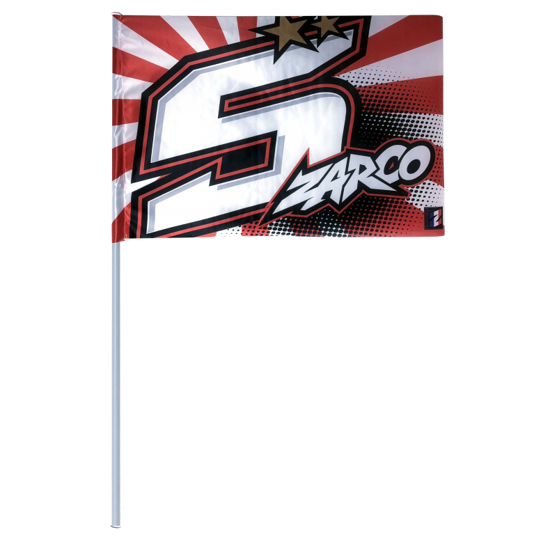 drapeau n 5 johann zarco s team motos. Black Bedroom Furniture Sets. Home Design Ideas